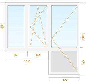 mediniai-langai-konstrukcija-su-balkonu-300x291